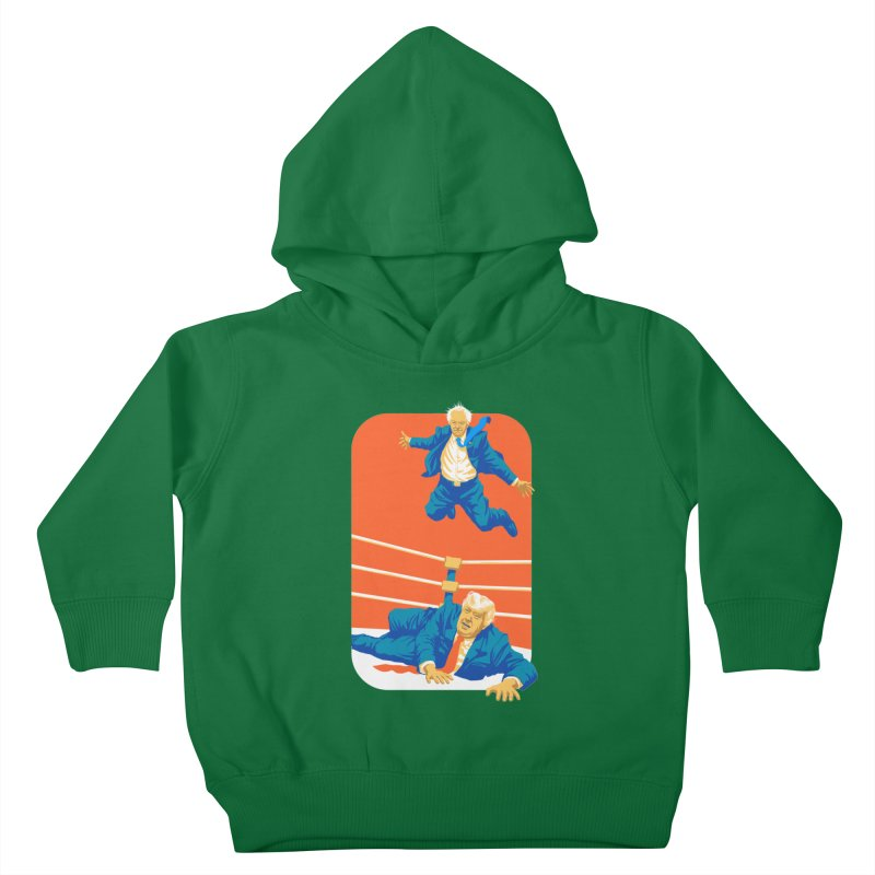 Bernie Off The Top Rope Kids Toddler Pullover Hoody by Bernie Threads