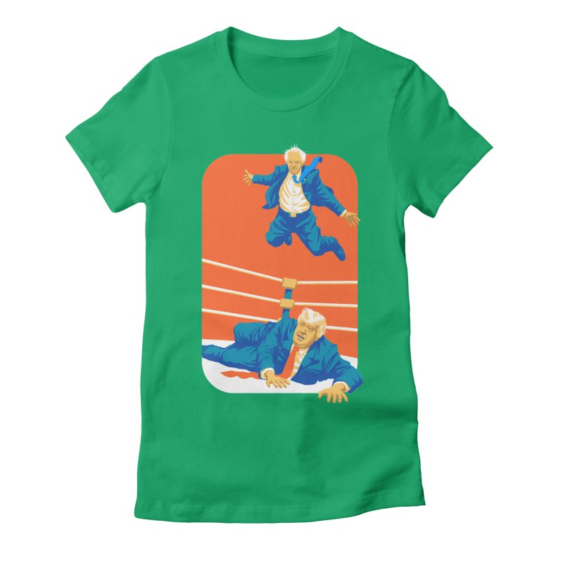 Bernie Off The Top Rope Women's Fitted T-Shirt by Bernie Threads