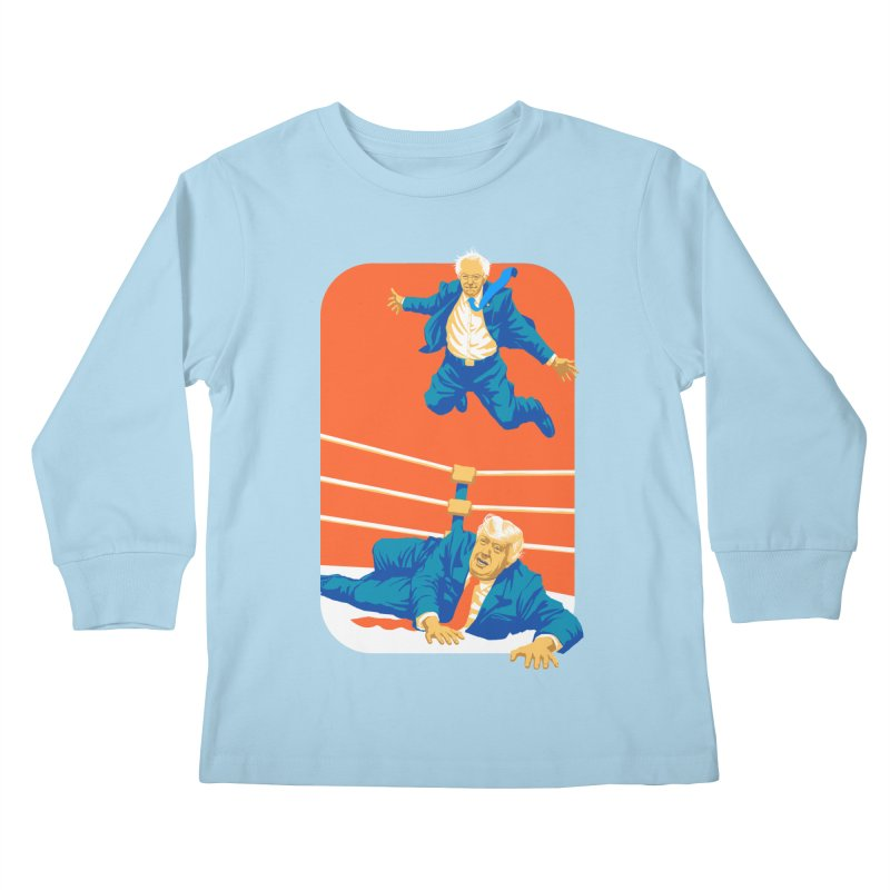Bernie Off The Top Rope Kids Longsleeve T-Shirt by Bernie Threads