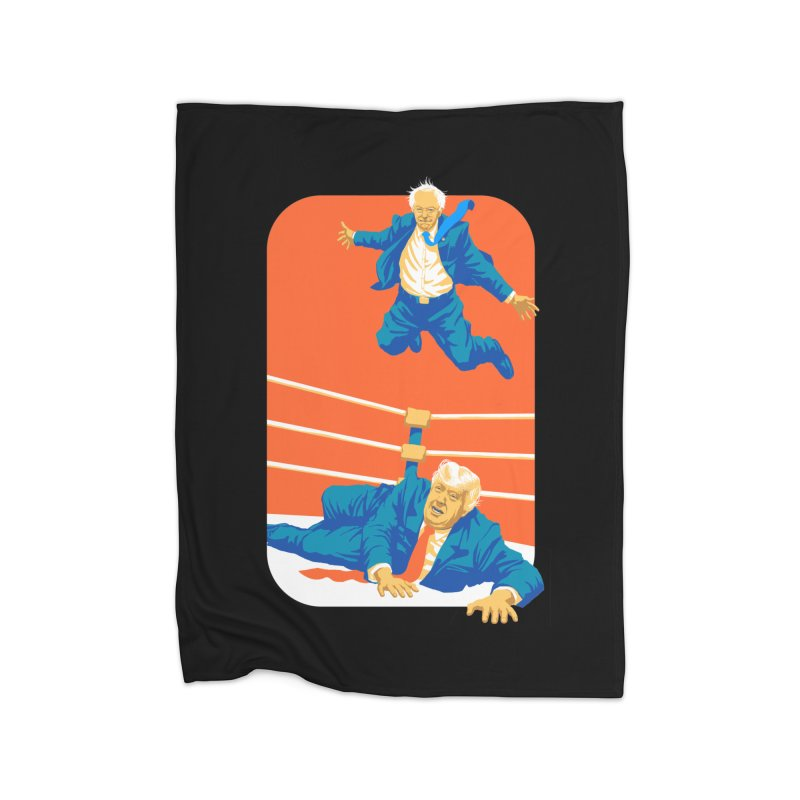 Bernie Off The Top Rope Home Fleece Blanket Blanket by Bernie Threads