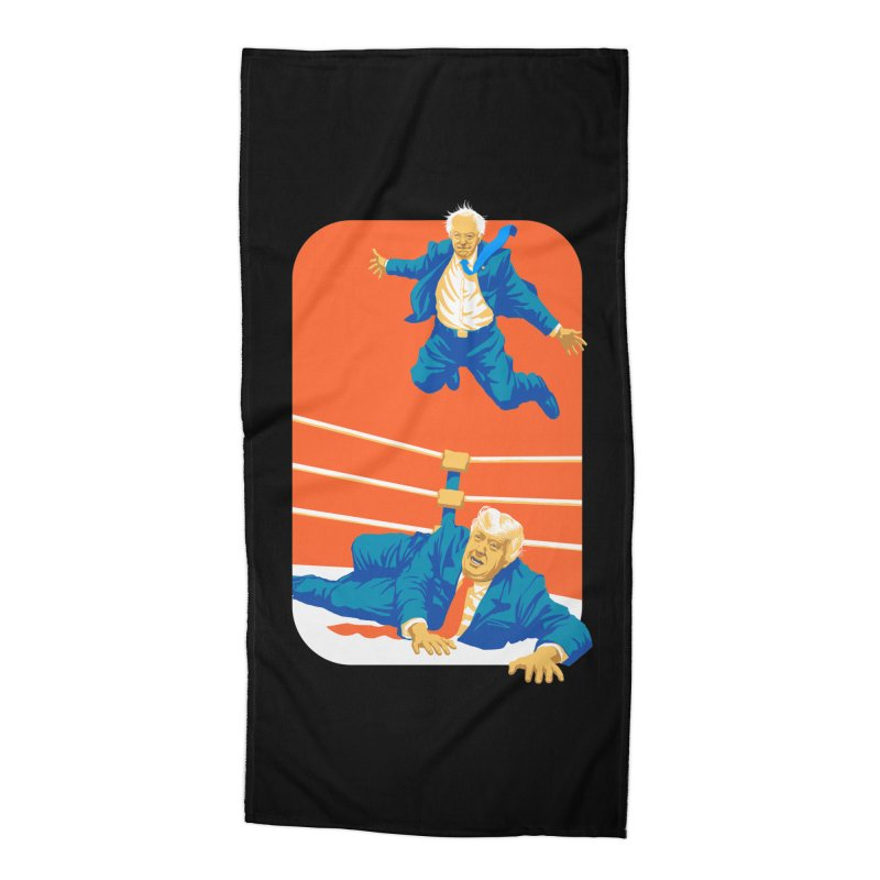 Bernie Off The Top Rope Accessories Beach Towel by Bernie Threads