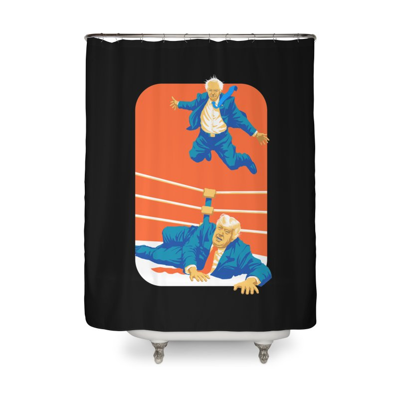 Bernie Off The Top Rope Home Shower Curtain by Bernie Threads