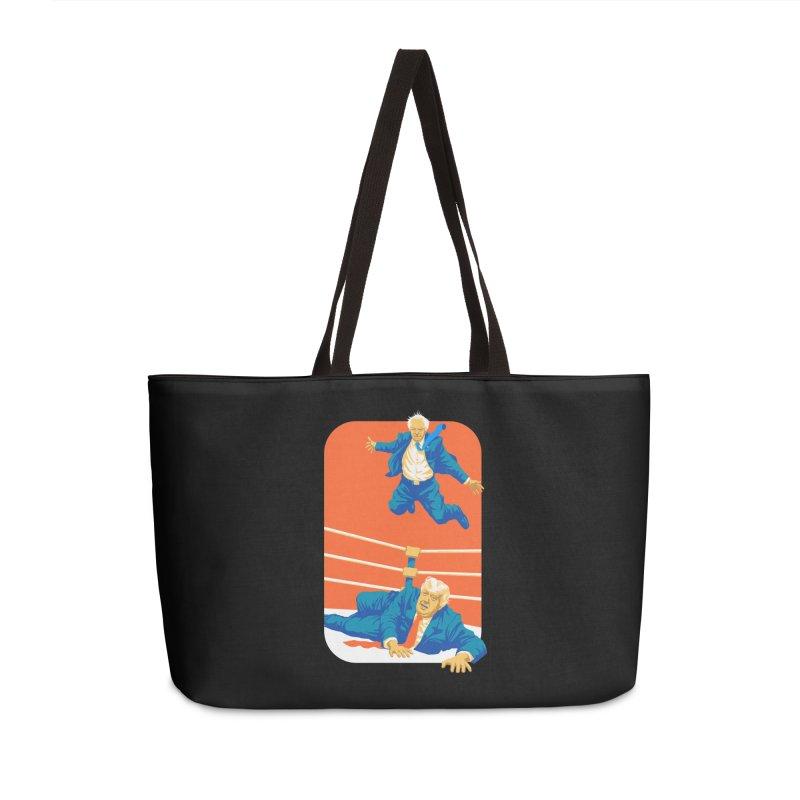 Bernie Off The Top Rope Accessories Weekender Bag Bag by Bernie Threads