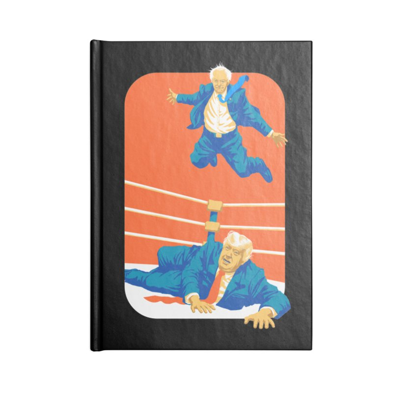 Bernie Off The Top Rope Accessories Lined Journal Notebook by Bernie Threads