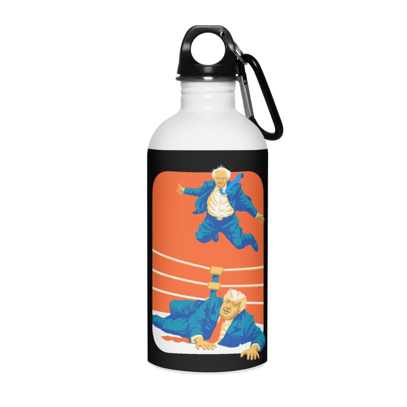 Bernie Off The Top Rope Accessories Water Bottle by Bernie Threads