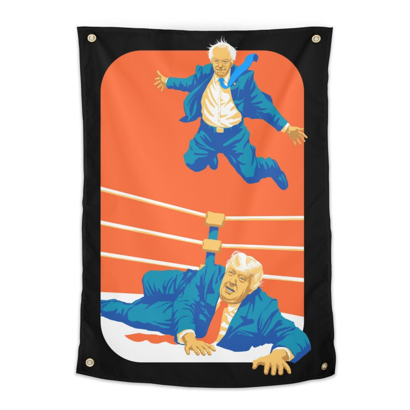 Bernie Off The Top Rope Home Tapestry by Bernie Threads