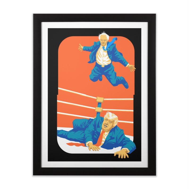 Bernie Off The Top Rope Home Framed Fine Art Print by Bernie Threads