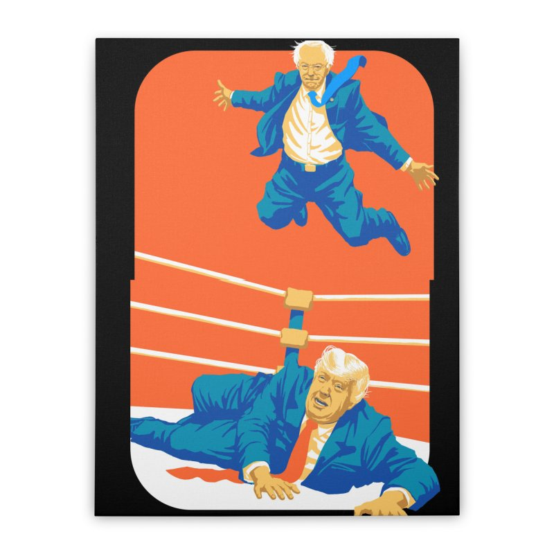 Bernie Off The Top Rope Home Stretched Canvas by Bernie Threads