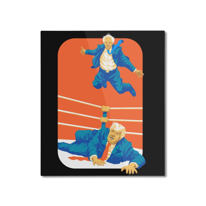 Bernie Off The Top Rope Home Mounted Aluminum Print by Bernie Threads