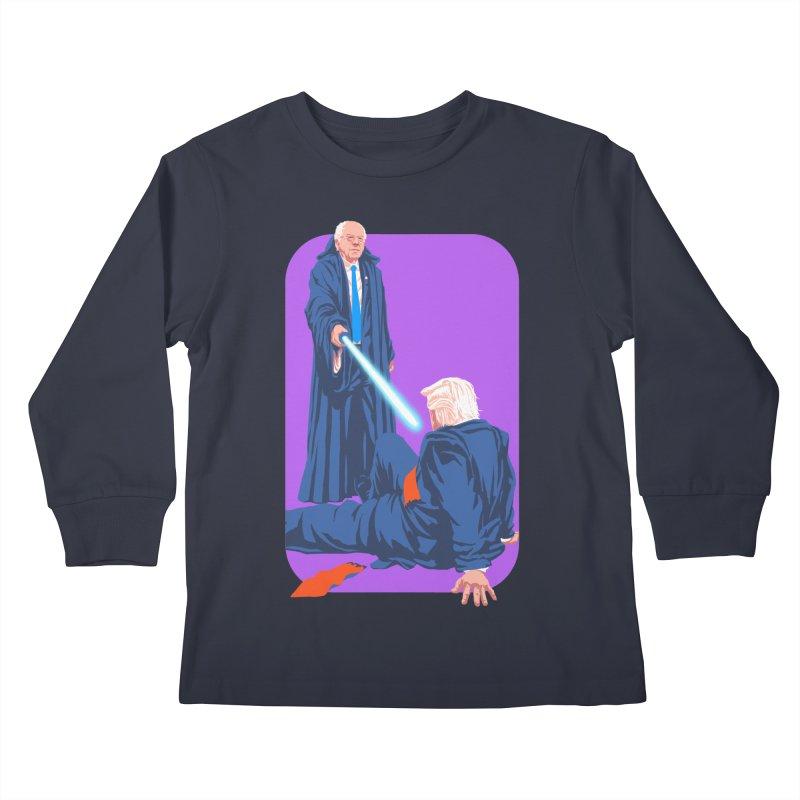 Bernie Bests Trump Kids Longsleeve T-Shirt by Bernie Threads