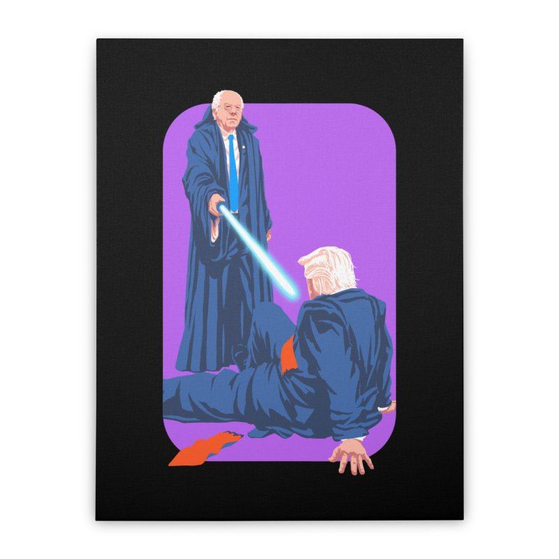 Bernie Bests Trump Home Stretched Canvas by Bernie Threads