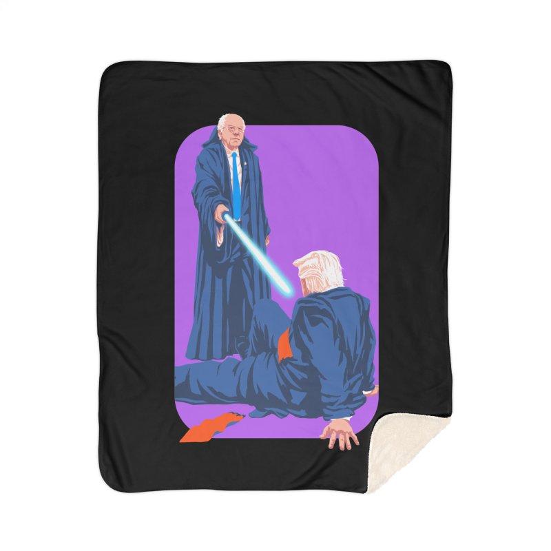 Bernie Bests Trump Home Sherpa Blanket Blanket by Bernie Threads