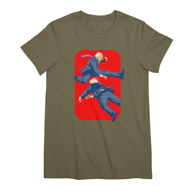 Bernie Hurdles Trump Women's Premium T-Shirt by Bernie Threads