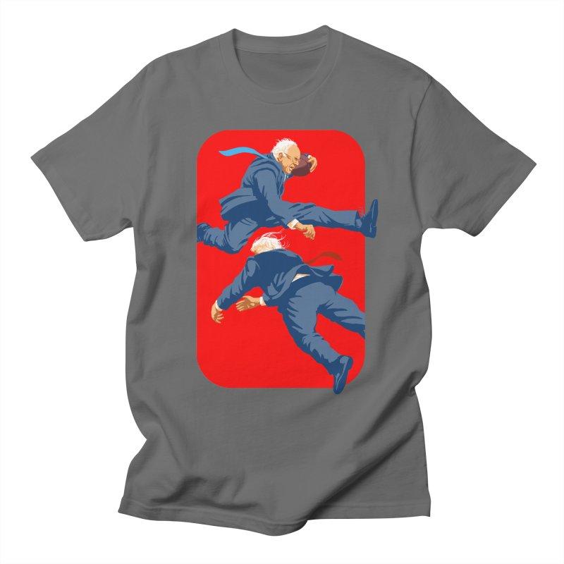 Bernie Hurdles Trump Men's T-Shirt by Bernie Threads