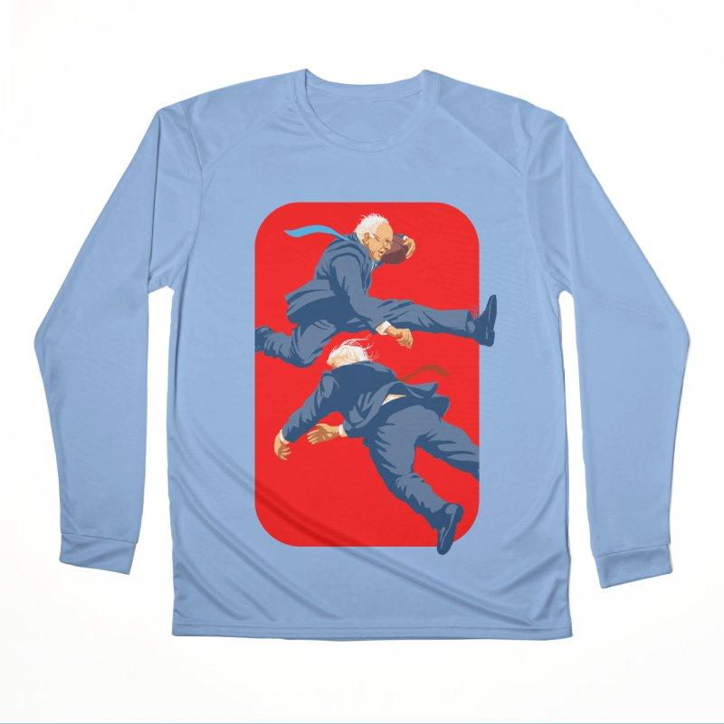 Bernie Hurdles Trump Men's Performance Longsleeve T-Shirt by Bernie Threads