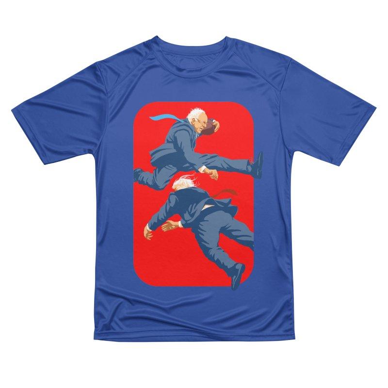 Bernie Hurdles Trump Men's Performance T-Shirt by Bernie Threads