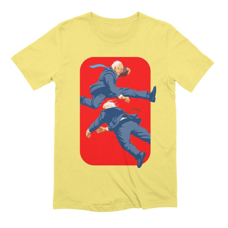 Bernie Hurdles Trump Men's Extra Soft T-Shirt by Bernie Threads