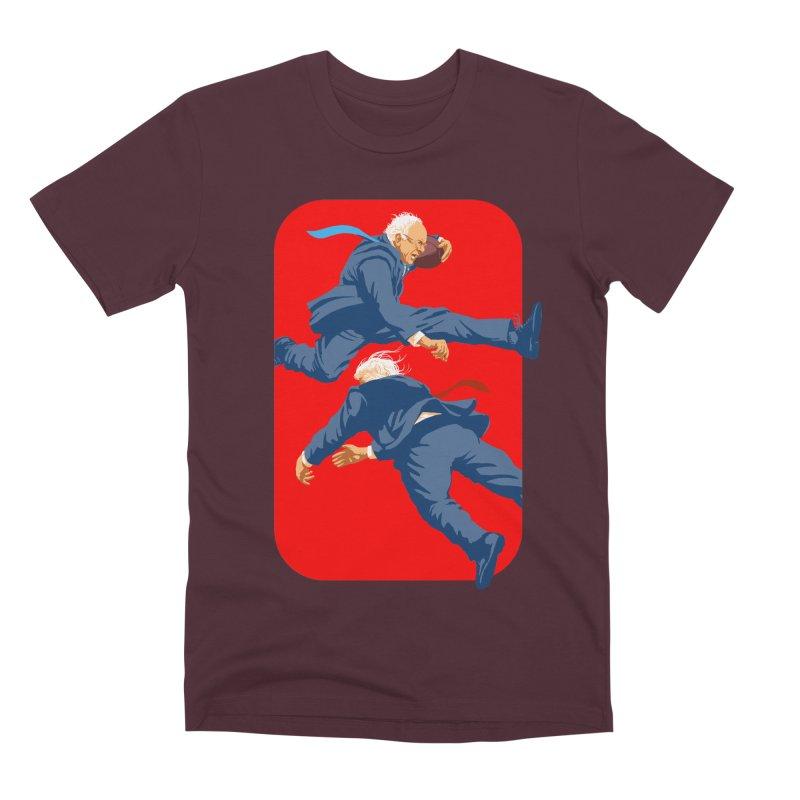 Bernie Hurdles Trump Men's Premium T-Shirt by Bernie Threads