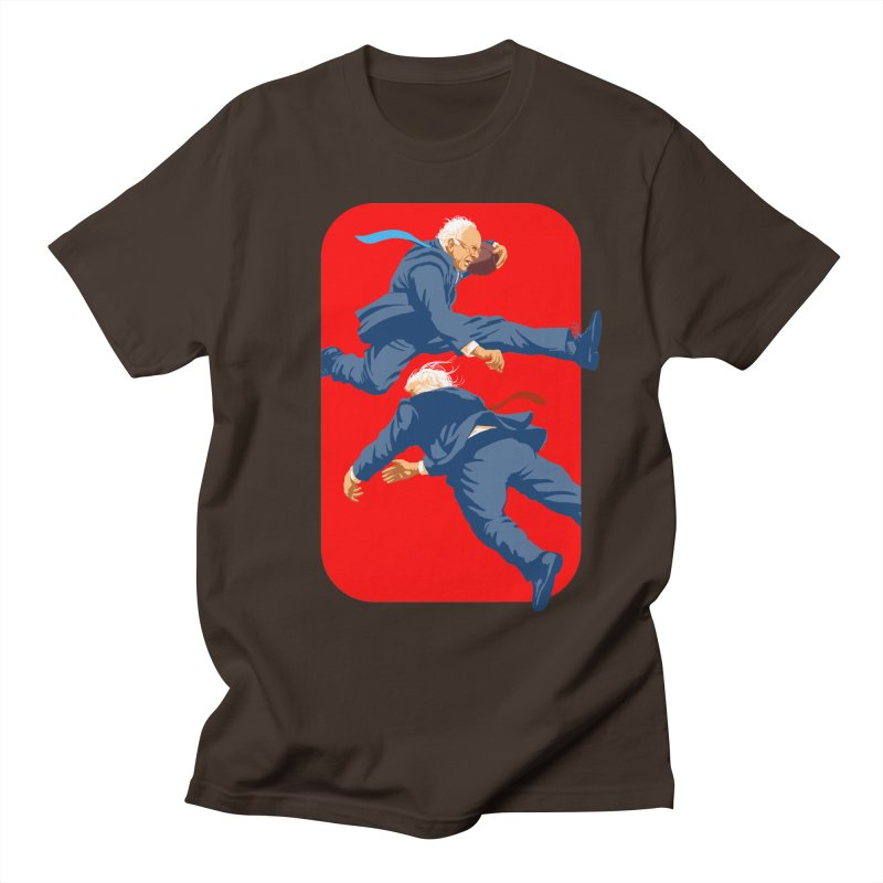 Bernie Hurdles Trump Men's Regular T-Shirt by Bernie Threads