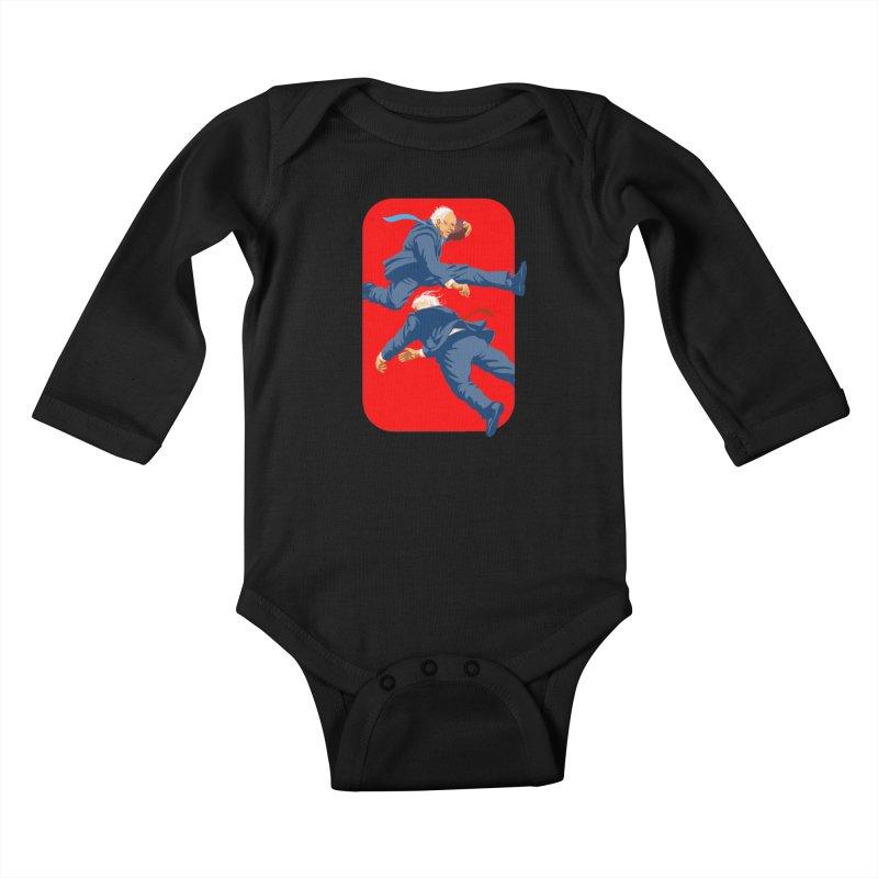 Bernie Hurdles Trump Kids Baby Longsleeve Bodysuit by Bernie Threads
