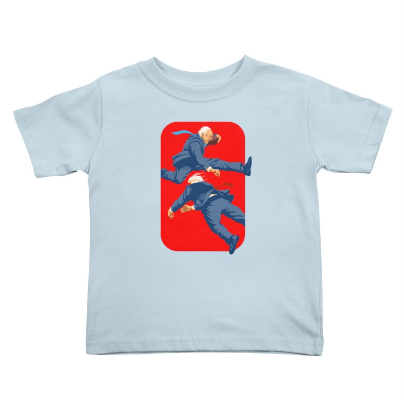 Bernie Hurdles Trump Kids Toddler T-Shirt by Bernie Threads