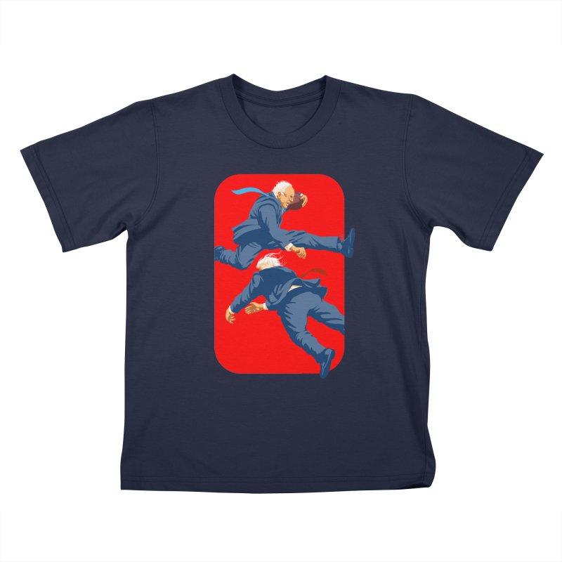 Bernie Hurdles Trump Kids T-Shirt by Bernie Threads