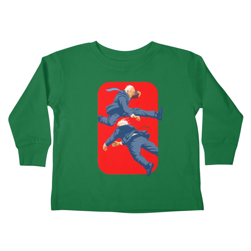 Bernie Hurdles Trump Kids Toddler Longsleeve T-Shirt by Bernie Threads
