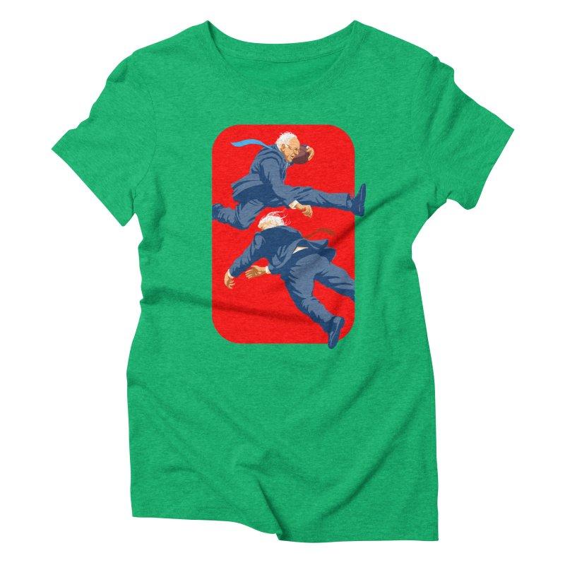 Bernie Hurdles Trump Women's Triblend T-Shirt by Bernie Threads