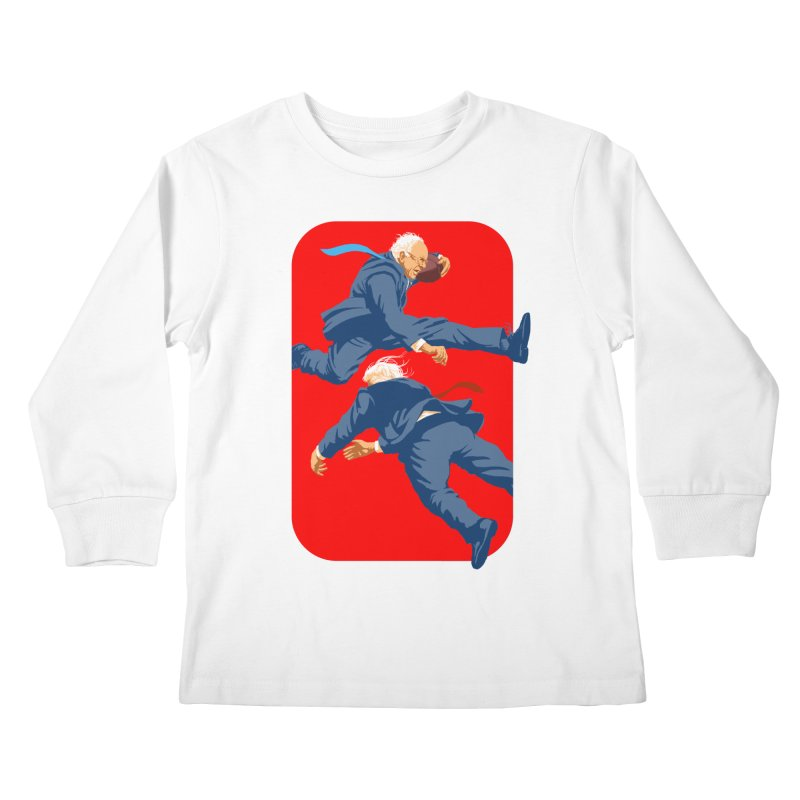 Bernie Hurdles Trump Kids Longsleeve T-Shirt by Bernie Threads