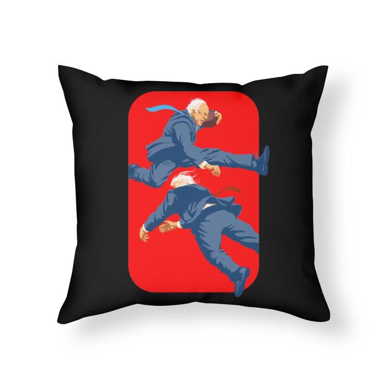 Bernie Hurdles Trump Home Throw Pillow by Bernie Threads