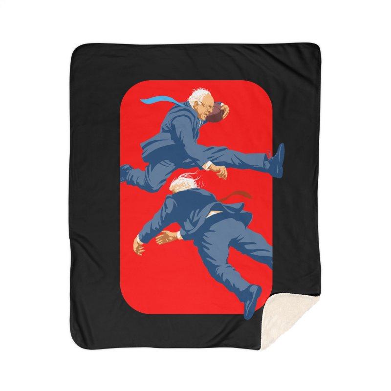 Bernie Hurdles Trump Home Sherpa Blanket Blanket by Bernie Threads