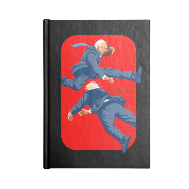 Bernie Hurdles Trump Accessories Lined Journal Notebook by Bernie Threads