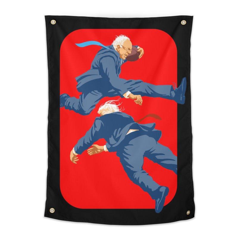 Bernie Hurdles Trump Home Tapestry by Bernie Threads