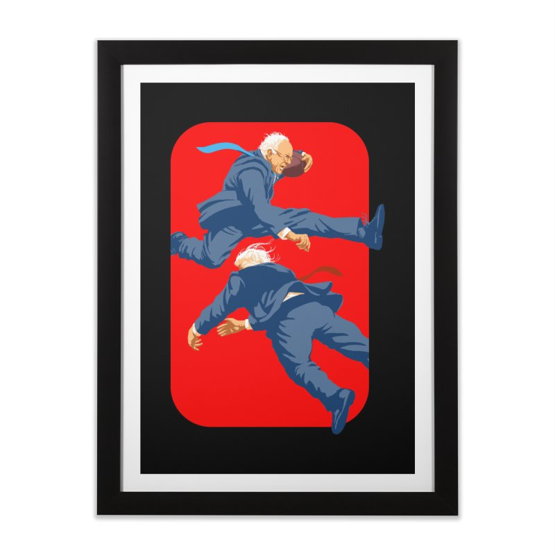 Bernie Hurdles Trump Home Framed Fine Art Print by Bernie Threads