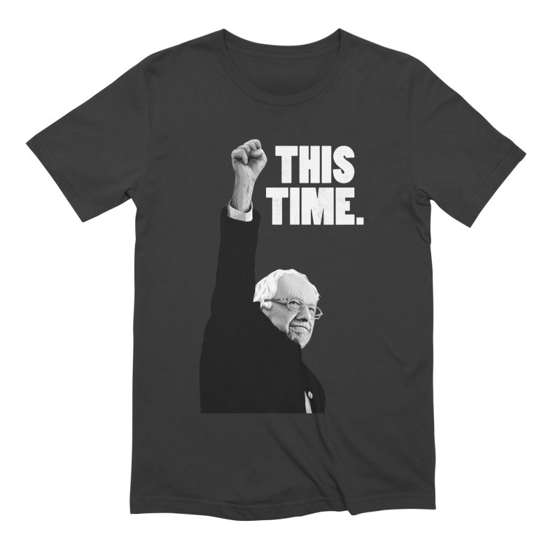 This Time. (White Text) Men's Extra Soft T-Shirt by Bernie Threads