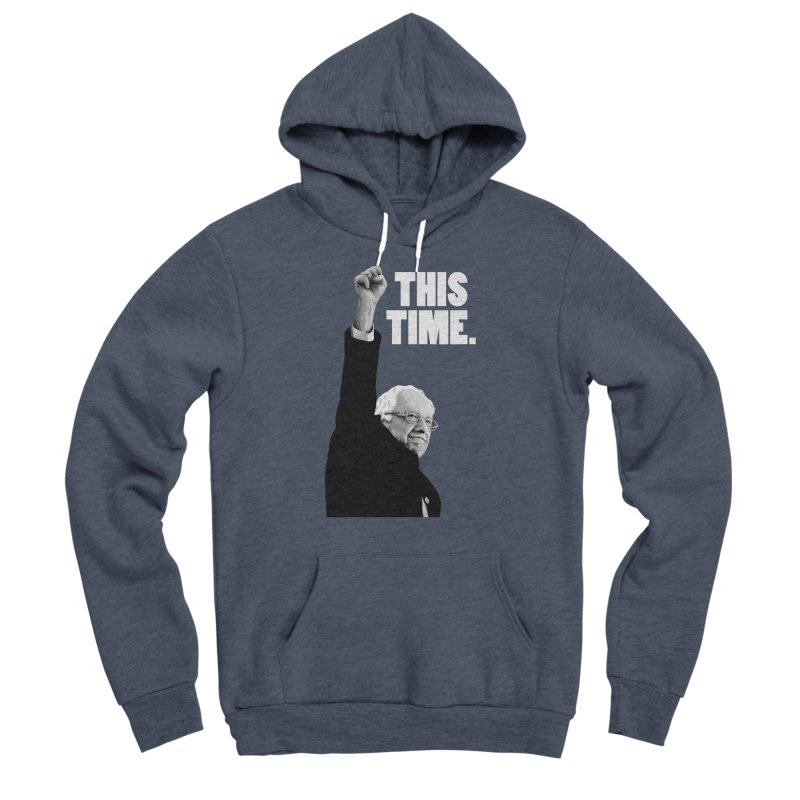 This Time. (White Text) Men's Sponge Fleece Pullover Hoody by Bernie Threads