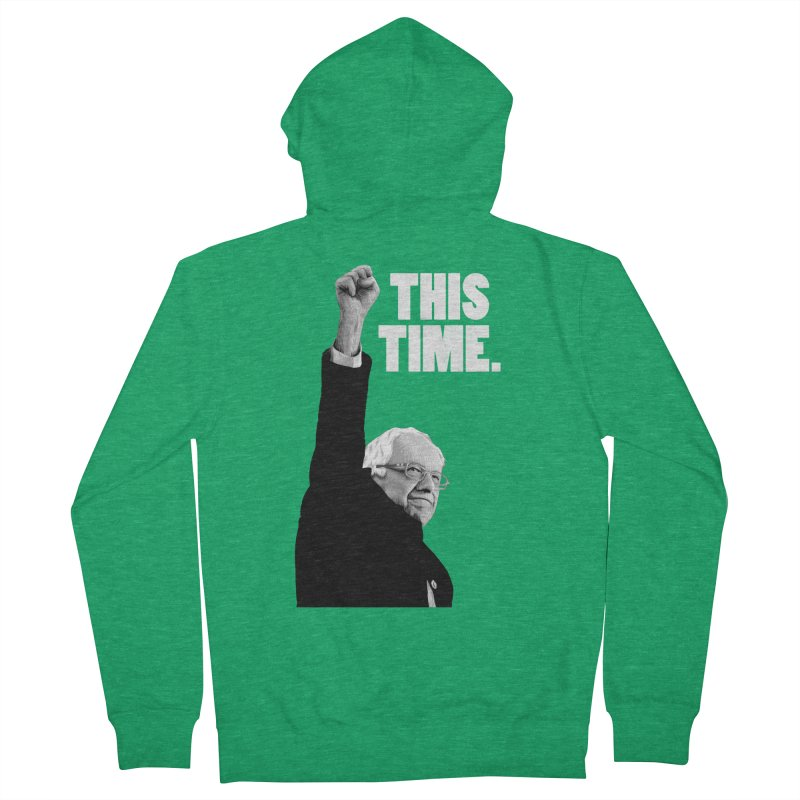 This Time. (White Text) Men's Zip-Up Hoody by Bernie Threads