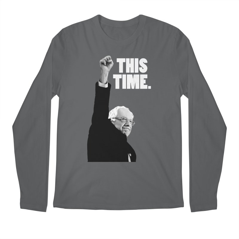 This Time. (White Text) Men's Longsleeve T-Shirt by Bernie Threads