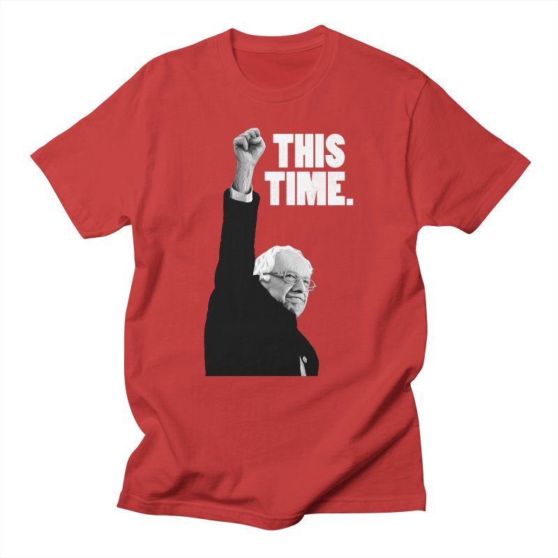 This Time. (White Text) Men's Regular T-Shirt by Bernie Threads