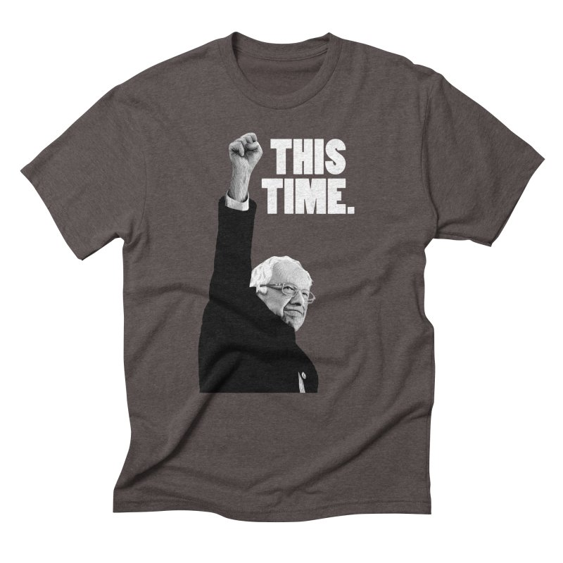 This Time. (White Text) Men's Triblend T-Shirt by Bernie Threads