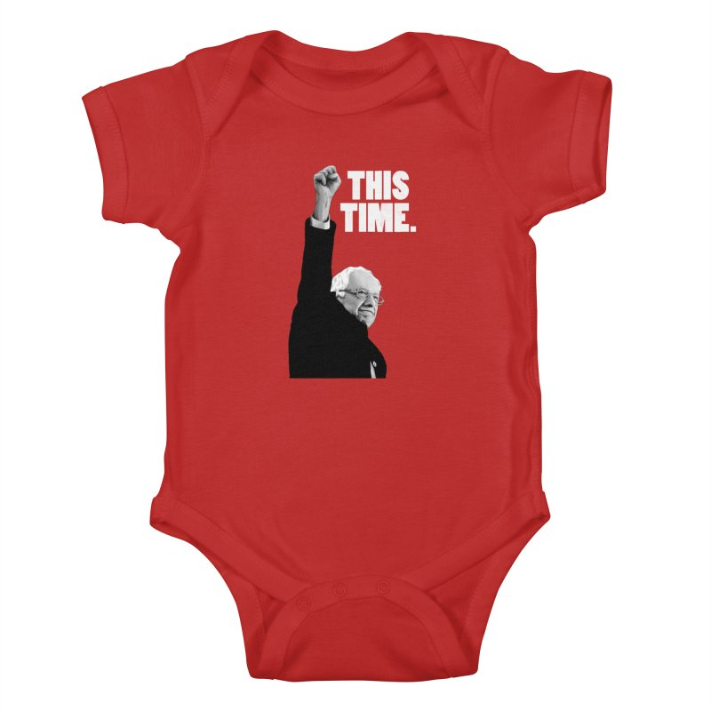 This Time. (White Text) Kids Baby Bodysuit by Bernie Threads