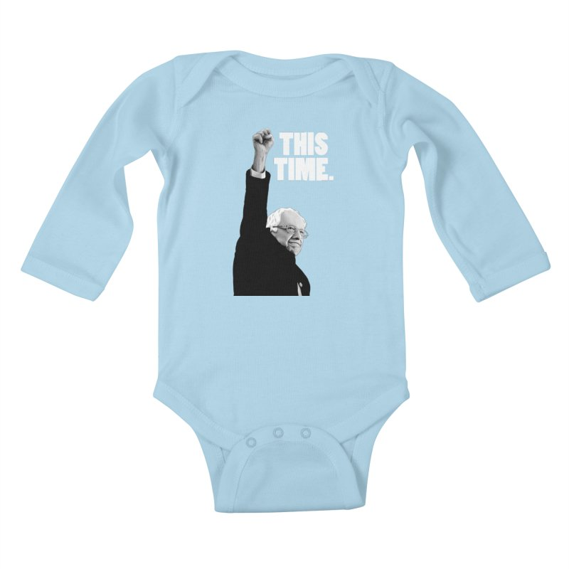 This Time. (White Text) Kids Baby Longsleeve Bodysuit by Bernie Threads