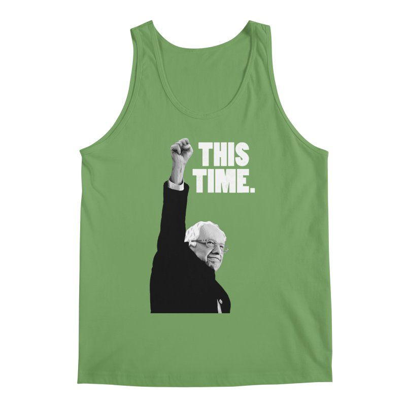 This Time. (White Text) Men's Tank by Bernie Threads
