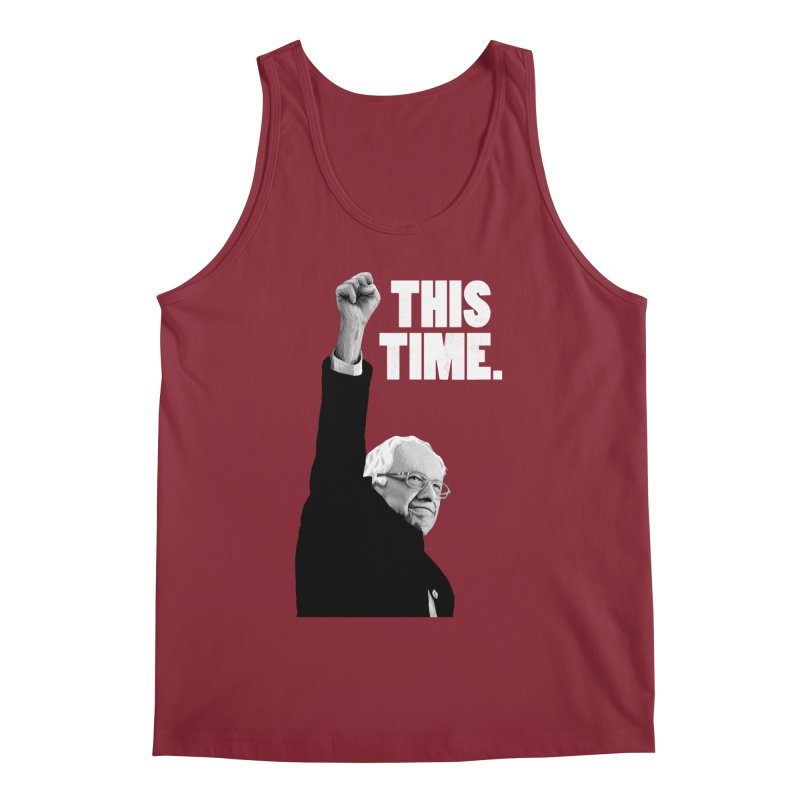 This Time. (White Text) Men's Regular Tank by Bernie Threads