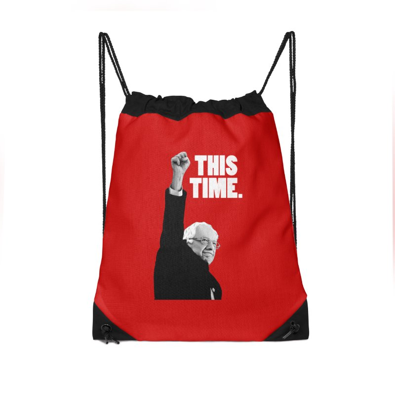 This Time. (White Text) Accessories Drawstring Bag Bag by Bernie Threads