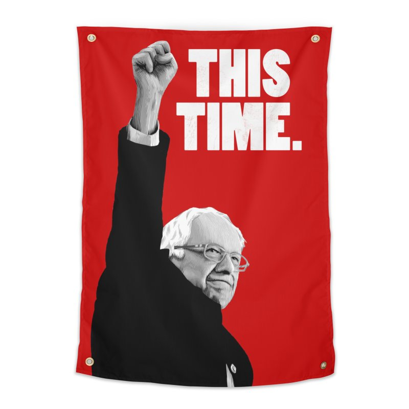 This Time. (White Text) Home Tapestry by Bernie Threads