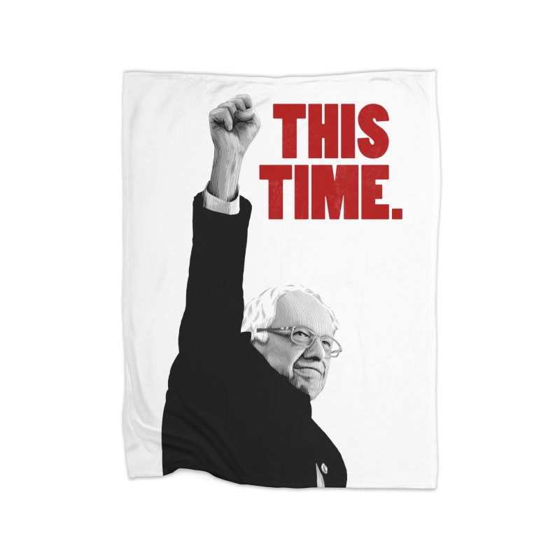 This Time. (Red Text) Home Fleece Blanket Blanket by Bernie Threads