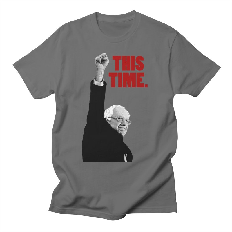 This Time. (Red Text) Men's T-Shirt by Bernie Threads