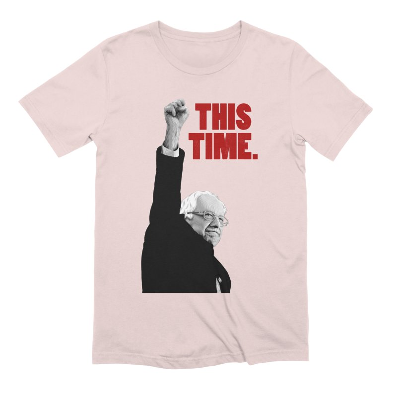 This Time. (Red Text) Men's Extra Soft T-Shirt by Bernie Threads