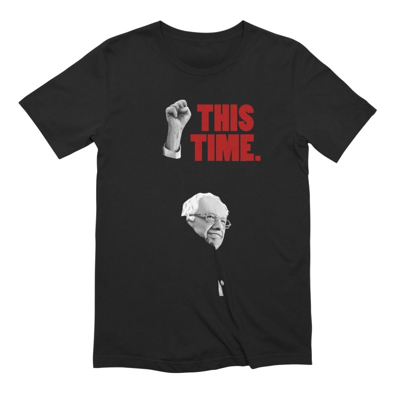 This Time. (Red Text) in Men's Extra Soft T-Shirt Black by Bernie Threads